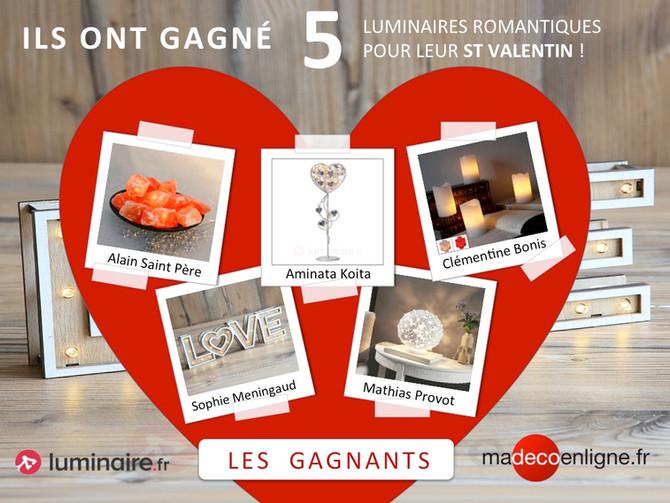 """Découvrez les gagnants du jeu-concours St Valentin """"Allumez le feu"""" !"""