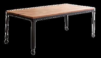 Table repas industrielle roulettes.png