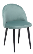 Chaise velours vert face.png
