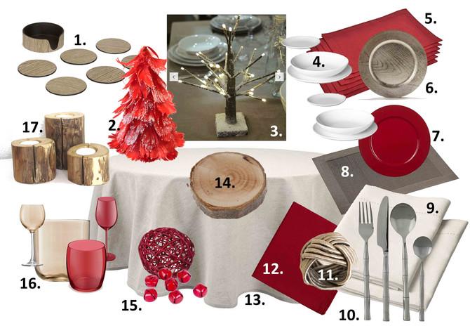 Déco de table pour Noël : ambiance nature