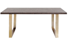 Table repas bois foncé laiton.png