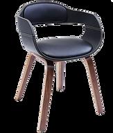 Chaise vintage bleue cuir.png