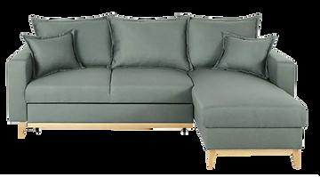 Canapé d'angle tissu vert pied bois.png