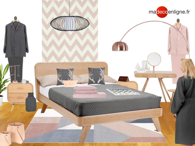 Une chambre scandinave à shopper !