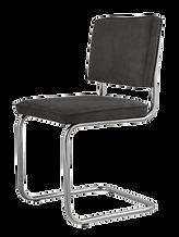 Chaise tubulaire retro gris.png
