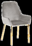 Chaise velours gris pied doré.png