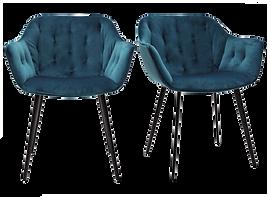 Chaise velours bleue pétrole.png