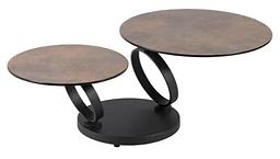Table basse double plateaux rouille mét