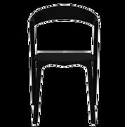 Chaise bois chêne massif noir face.png
