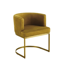 Chaise moutarde velours.png