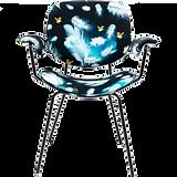 Chaise noir plumes bleue.png