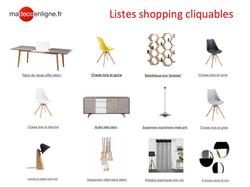 Listes shopping cliquables