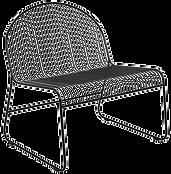 Fauteuil lounge noir métal filaire.png