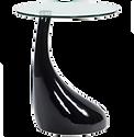Table d'appoint laquée noire verre.png