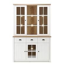 Vaisselier vitrine bois blanc.png