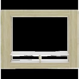 Meuble TV cadre blanc bois.png