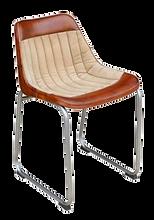 Chaise industrielle cognac beige.png
