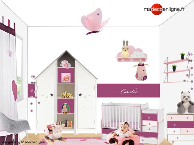 Une chambre de bébé fille aux couleurs 2018 !
