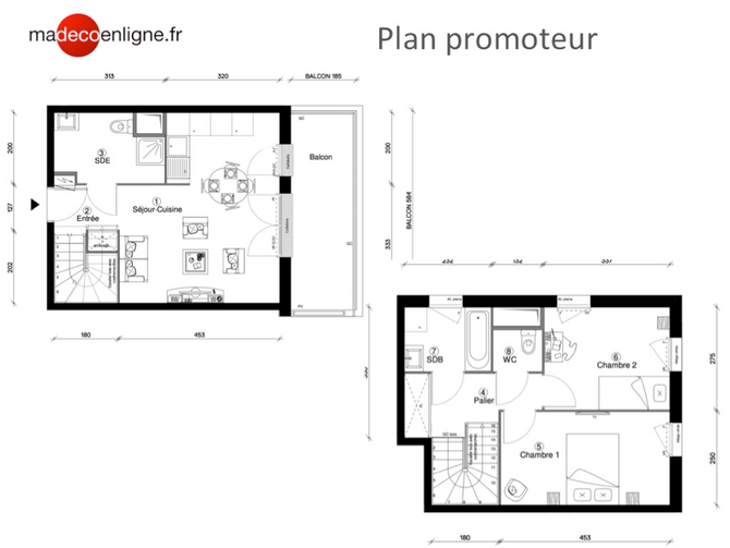 Optimisation d'un appartement T3 sur plan à Cergy-Pontoise (95)