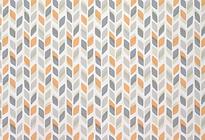 Papier peint feuilles gris orange.png