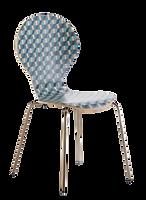 Chaise empilable vintage bleue biais.png