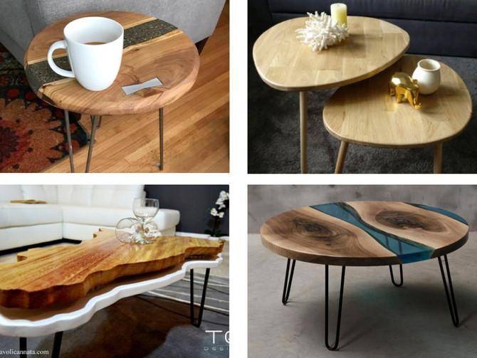 8 tables basses uniques aux courbes douces pour épater vos amis !