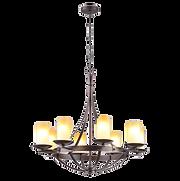 Suspension couronne lumineuse rustique.p