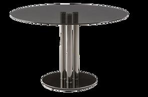 Table repas ronde verre fumé metal.png