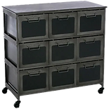 Commode metal multi tiroirs grise.png