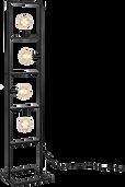 Lampadaire 4 lumières metal noir.png