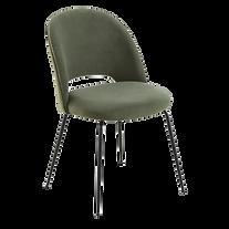 Chaise velours vert kaki.png