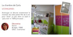 Chambre de petite fille 3 couleurs