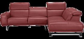 Canapé design cuir rouge foncé.png
