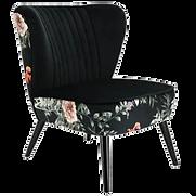 Fauteuil velours noir fleurs.png