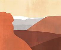 Papier peint collines terracotta (1).png