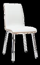 Chaise blanche pieds acier.png