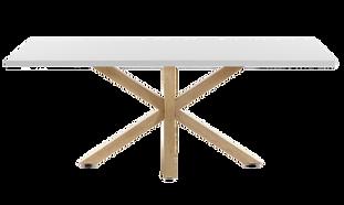 Table repas blanche pieds bois croisés.png
