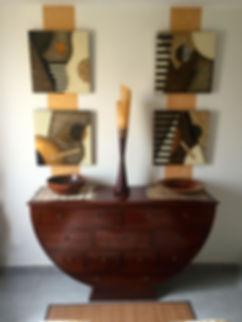 Photo vue depuis le lit après relooking chambre zen et ethnique