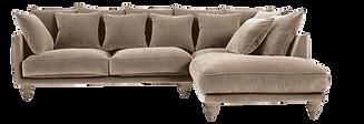 Canapé d angle velours beige cendré.pn
