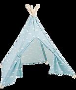 tipi-enfant-bleu-motifs-nuages-blancs-md