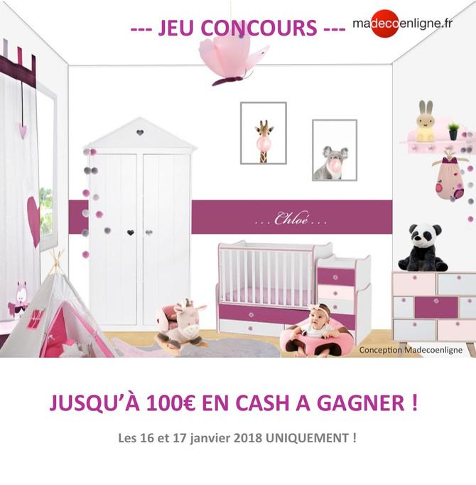 Gagnez jusqu' à 100€ en cash ! Participez avant DEMAIN minuit !