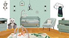 Une chambre de bébé mixte aux couleurs douces, reposantes et...soldée !