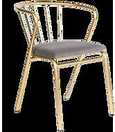 Chaise dorée assise grise.png