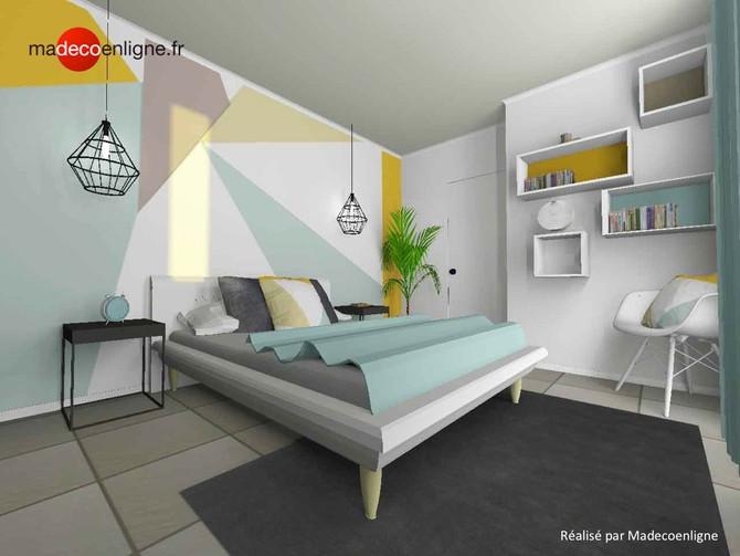Une chambre de jeune primo-accédant à l'esprit scandinave avec un zeste de peps !
