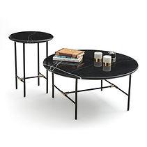 Table basse et sellette marbre noir.jpg