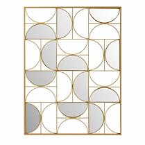 Décoration murale miroir metal doré.webp