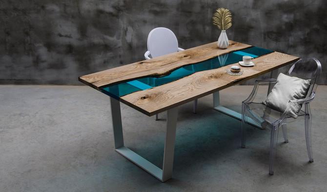 Les tables en bois UNIQUES de Malita
