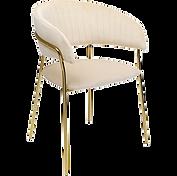 Chaise velours crème face.png