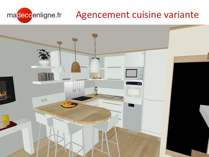 Optimiser un espace cuisine-salon pour un 3 pièces sur plan en VEFA