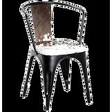 Chaise indus acier et vache.png